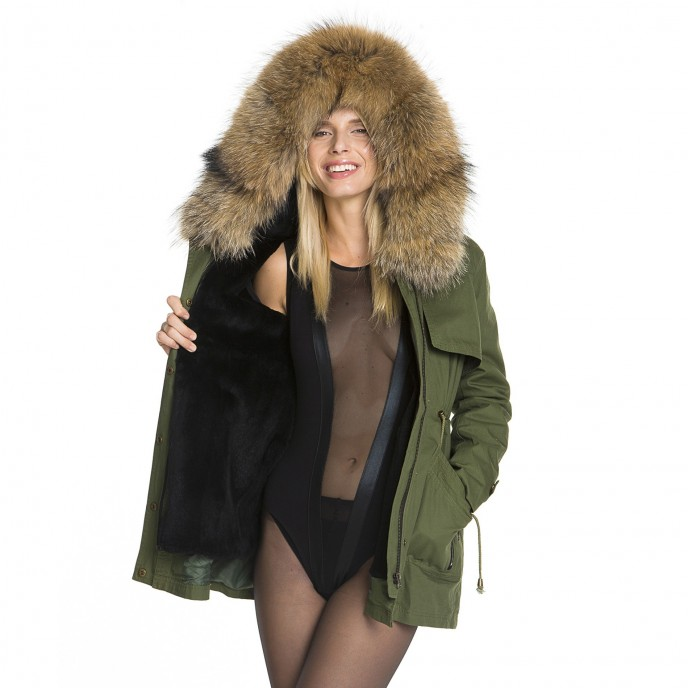 Mini Parka black WeLoveFurs