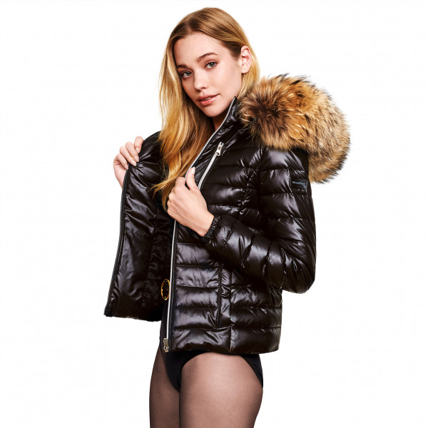Warm Jacket with real Fur Hood We Love Furs