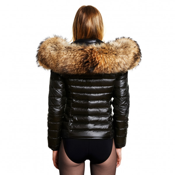 Finnraccoon Down Jacket with Fur Hood