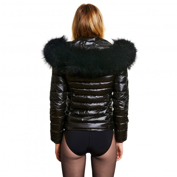 Black Jacket with Fur Hood