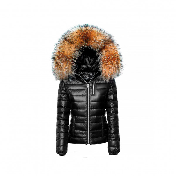 Down Jacket with Fur Hood winterjacket