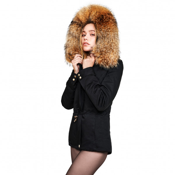 "Fur Hooded Jacket ""Petite"" with XXL Fur We Love Furs"