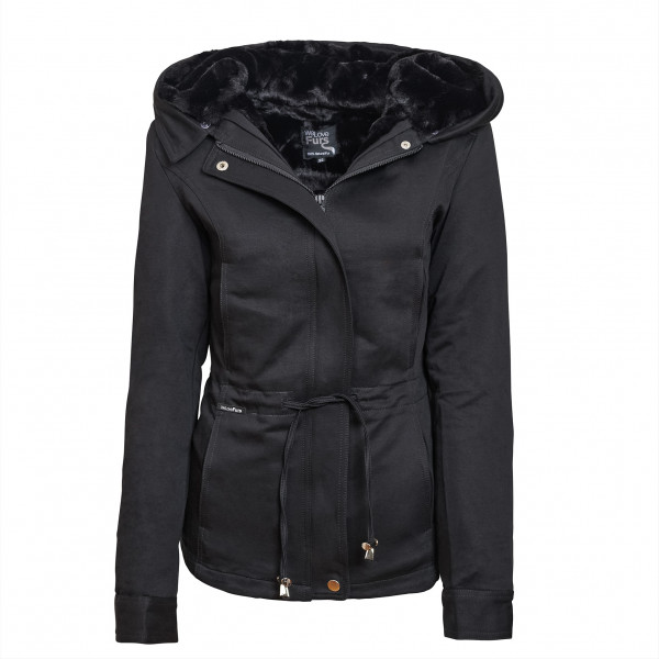 "Fur Hooded Jacket ""Petite"" with XXL Fur"