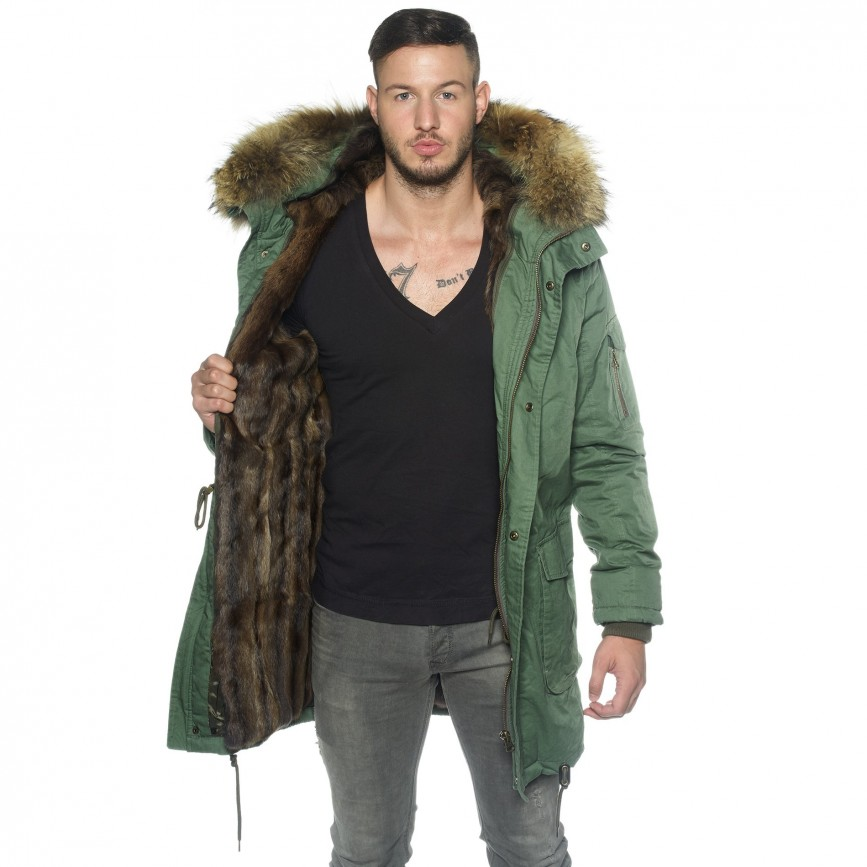 Fur Lined Mens Parka with XXL fur collar | WeLoveFurs.com