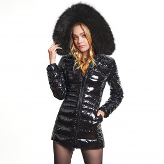 "Puffercoat with Fur ""GLOSSIA"""
