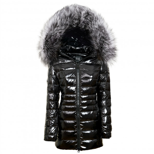 warme Winterjacke Puffermantel mit Pelz