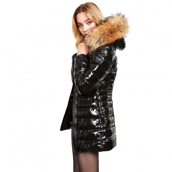 Winter downcoat Puffercoat with Realfur