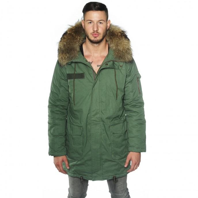 Men Parka real fur