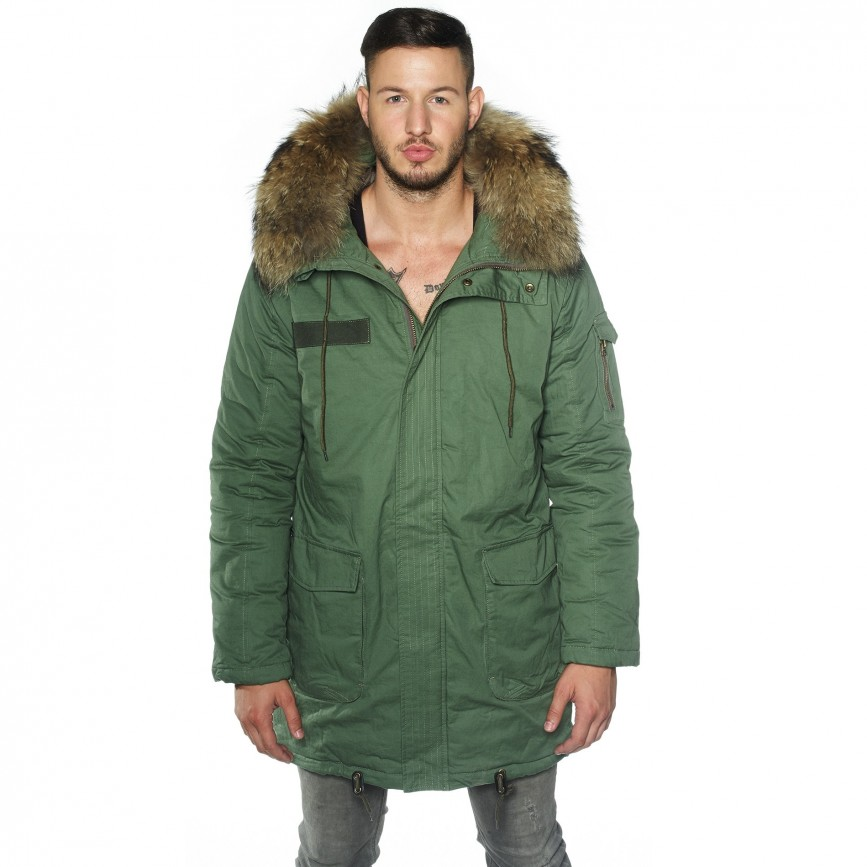 Mens parkas with fur