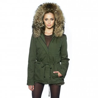 "Fur Parka Jacket ""Petite"" with XXL Fur"