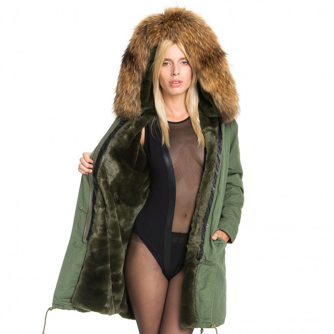 Parka with fur hood WeLoveFurs