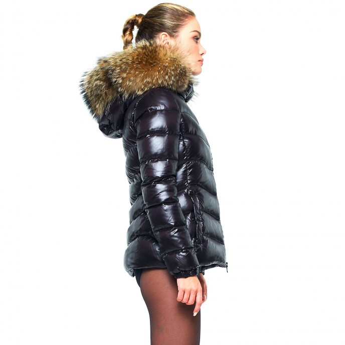 Black Woman Puffer jacket winter jacket black warm slim