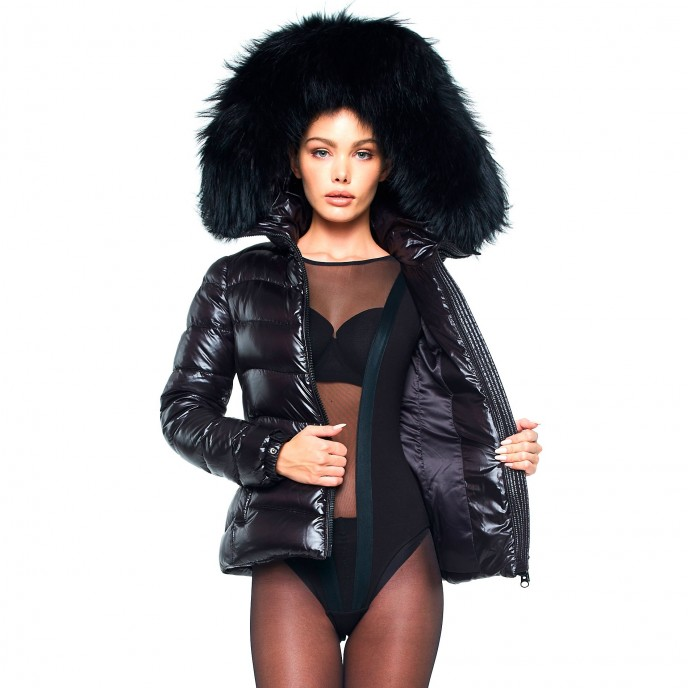 Puffer Jacket with black Fur 2
