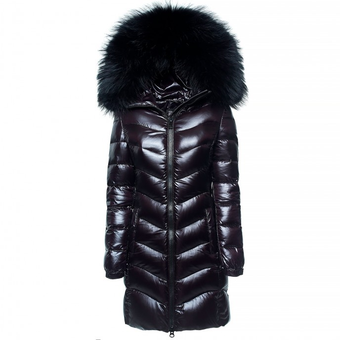 Real Fur Hood Winter coat winter jacket woman ladies black