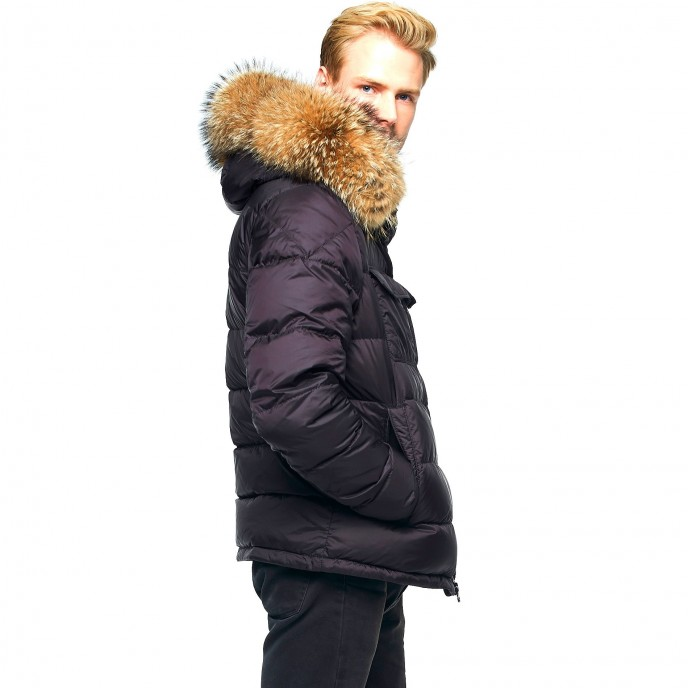 Hoodie Mens Winter Jacket Furhood Realfur Downjacket