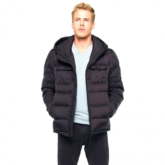 Furhood Hoodie Mens Winter Jacket Furhood Realfur Downjacket Pufferjacket