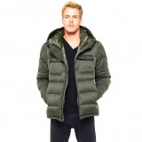 Hoodie Winter Jacket Furhood Realfur Armystyle Armygreen Downjacket