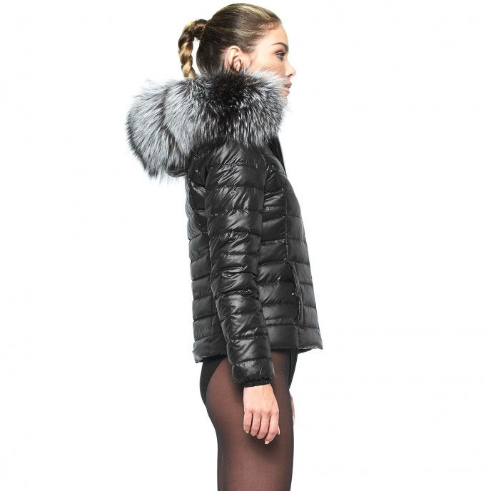 Down Jacket with Fur Hood 232