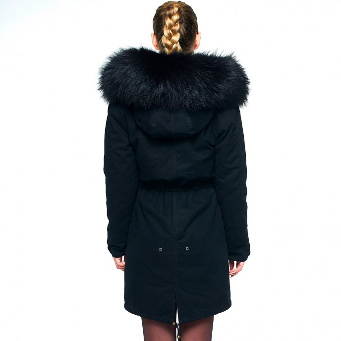 Fur Hooded Coat 56