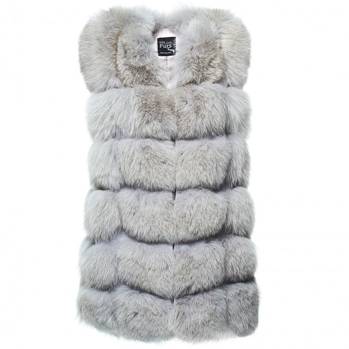 Realfur Vest Gilet Foxfur Ladies Woman