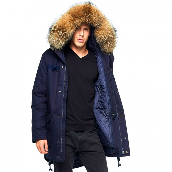 Mens Parka with Fur 44