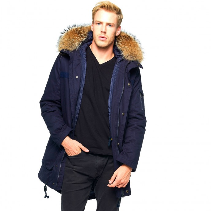 Mens Parka with fur 363