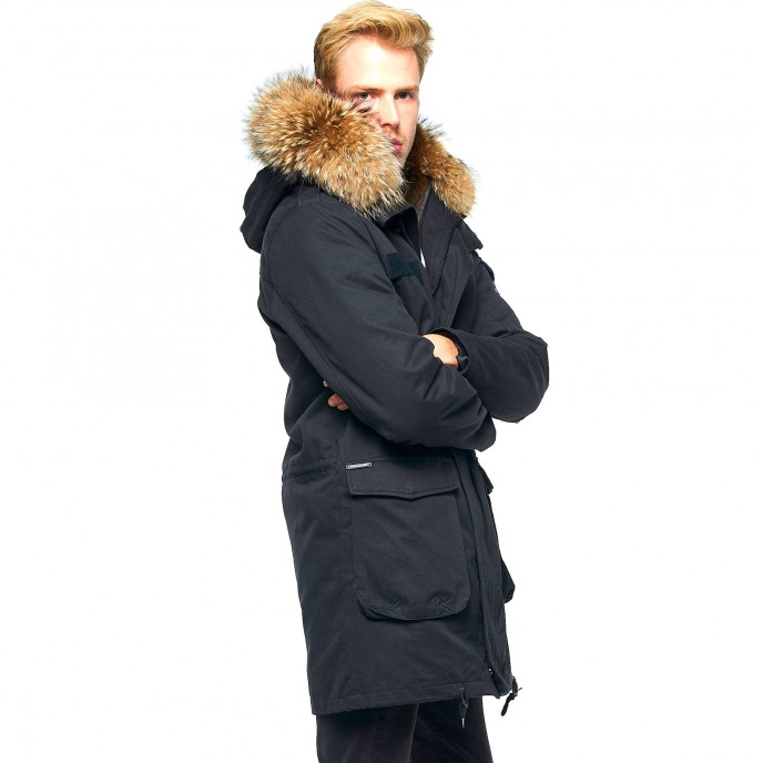 Fur lined mens Coat 345