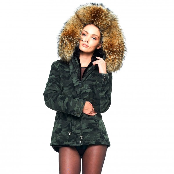 Camouflage Jacket with Fur 23