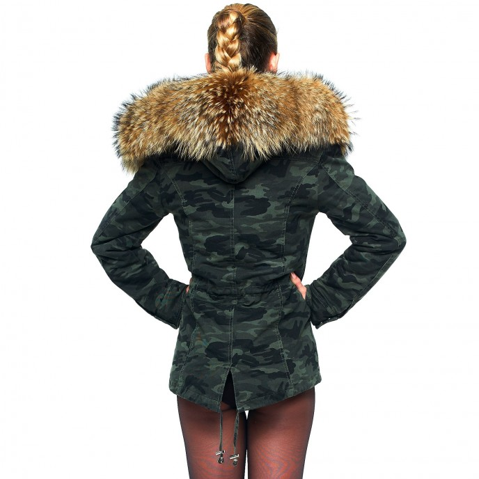 Camouflage Parka with Fur 23