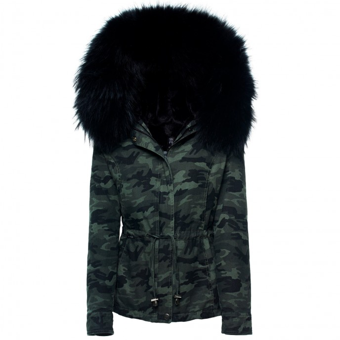 Camouflage Jacket with Fur 623