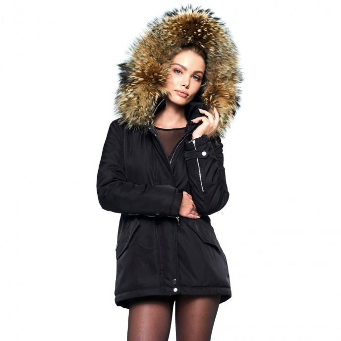 Winterjacke mit XXL Fell 123