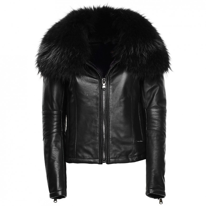 989cd511b Leather Jacket with Fur