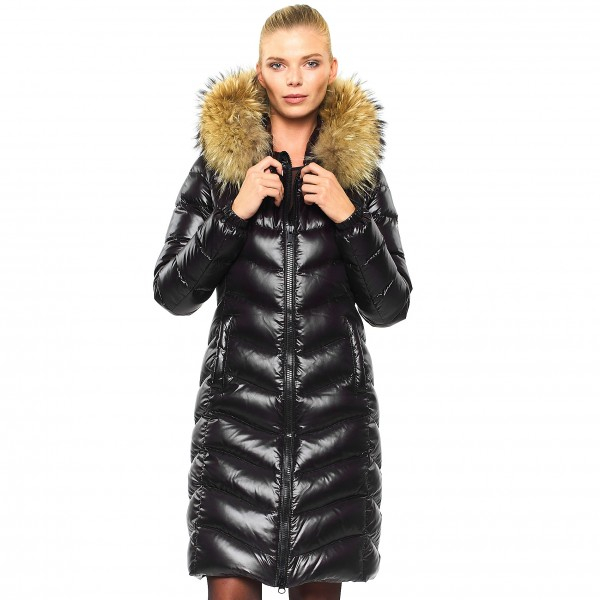 Woman Downjacket Downcoat Pufferjacket Black Wintercoat Winterjacket Woman