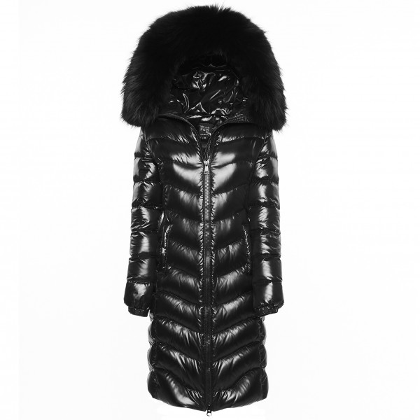 Woman Black Downcoat Puffercoat Black Wintercoat Winterjacket Woman