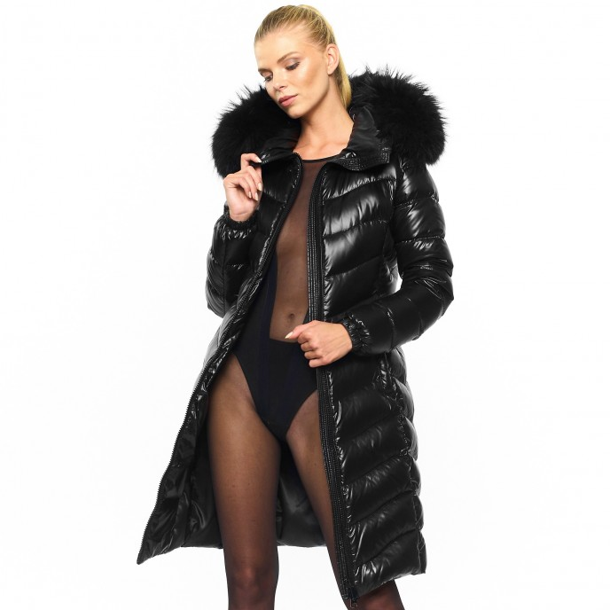 Furhood Wintercoat Winterjacket Downjacket Pufferjacket Black Wintercoat Winterjacket Woman