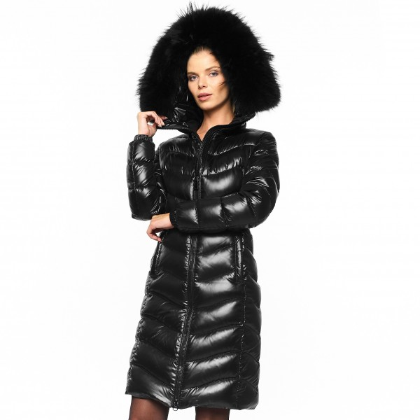 Downcoat Dwonjacket Pufferjacket Black Wintercoat Winterjacket Woman