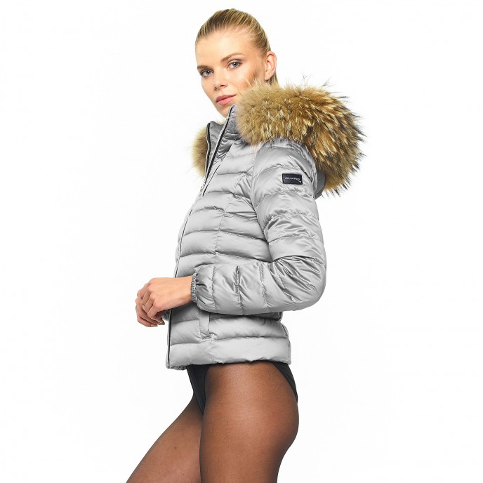 Ladies Realfur Downjacket Downcoat Winterjacket warm