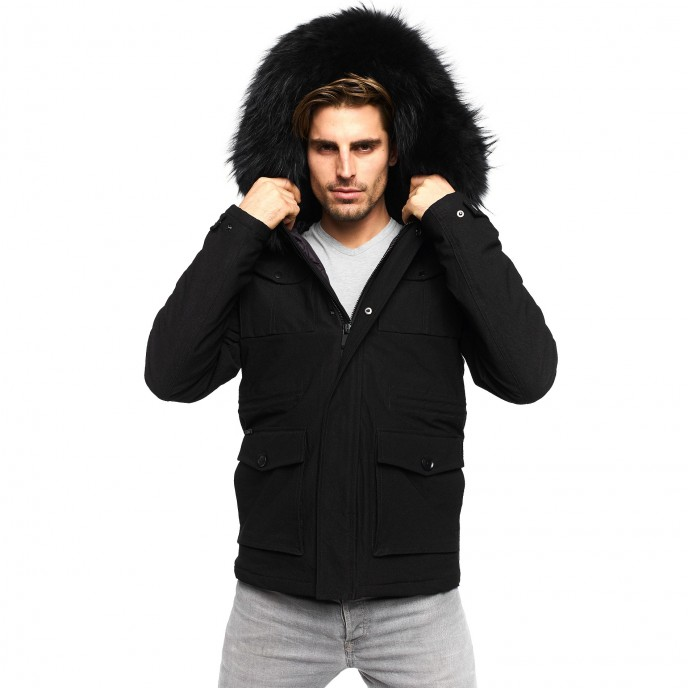 Mens Fur Collar Jacket
