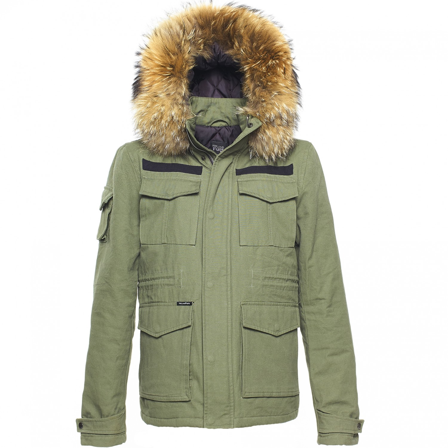 Men's Army Jacket with fur