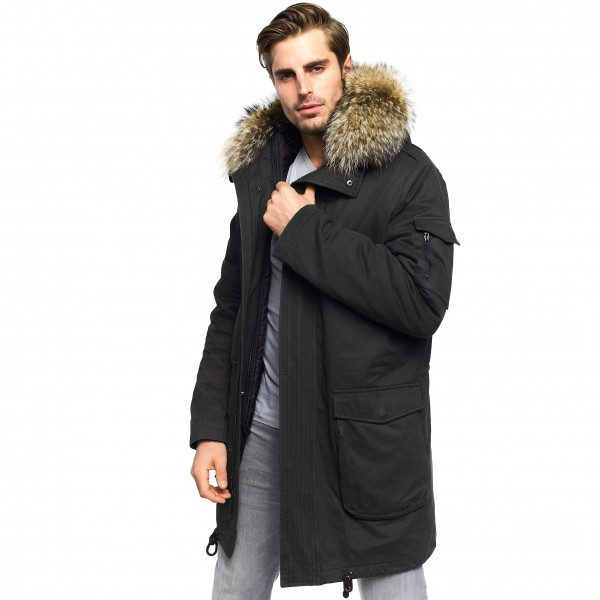 Real Fur Mens Parka