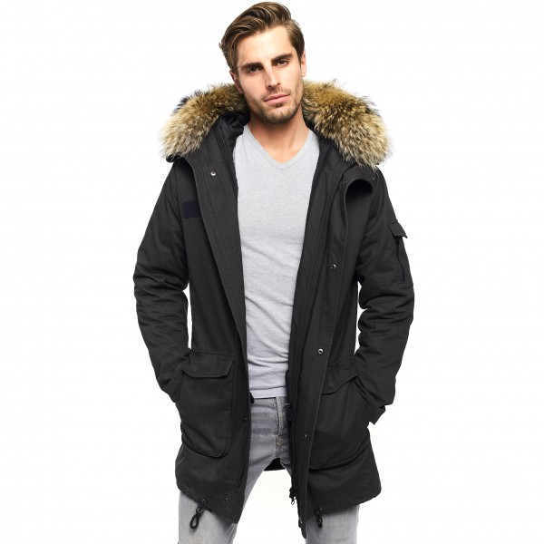 Mens Real Fur Parka Real Fur