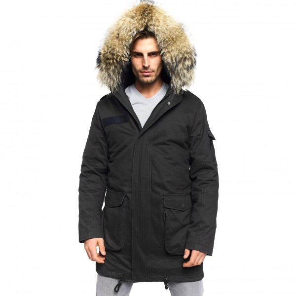 Mens Real Fur Parka
