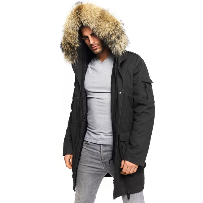 Mens Parka with Fur
