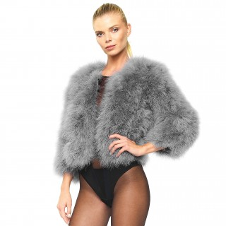 Feather Jacket in light grey