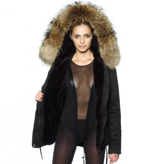 Woman Realfur Parka Winterjacket Furhood
