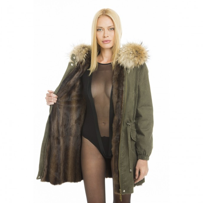 "Real fur parka ""Green Collection"""