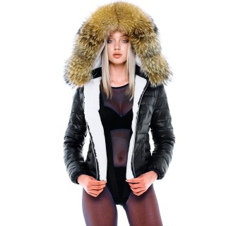Fur Lined Down Jacket