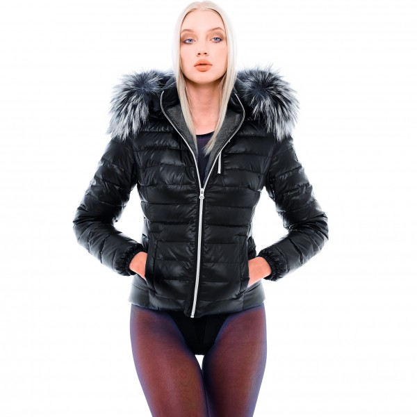 Ladys Down jacket with fur