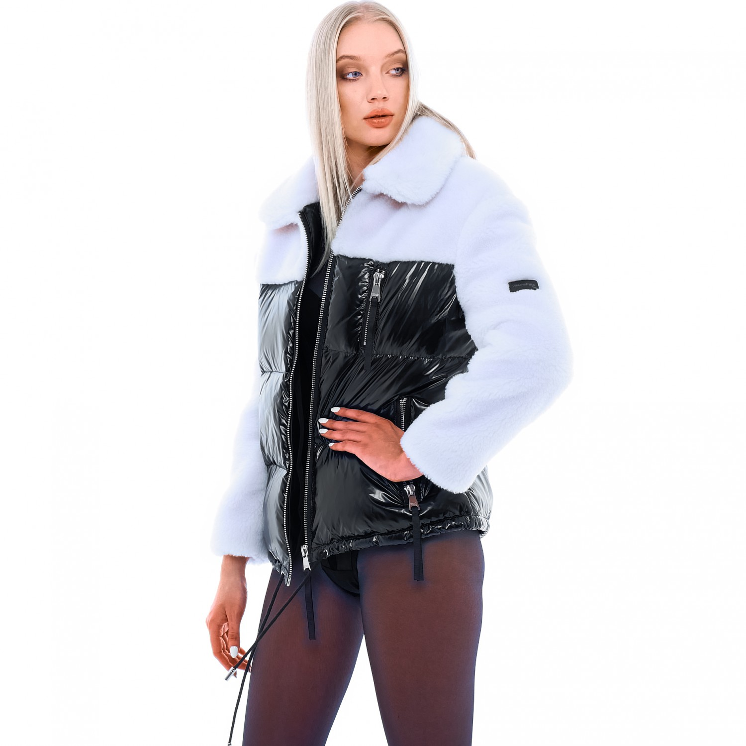 Shearling Bomber Jacket Domino