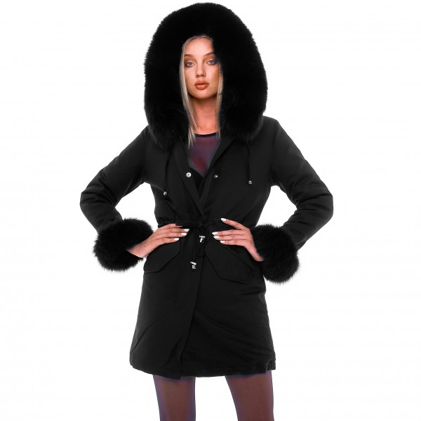 Wintercoat with real fur